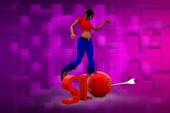 3D illustrazione della donna SEO Fotografie Stock Libere da Diritti