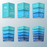 3D illustrazione digitale astratta Infographic Fotografie Stock Libere da Diritti