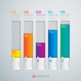 3D illustrazione digitale Infographic. Fotografie Stock Libere da Diritti