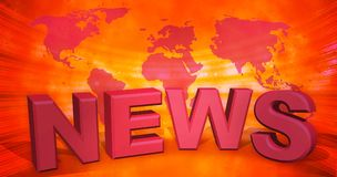 3d illustrazione, fondo astratto, notizie di mondo illustrazione vettoriale