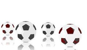 3D illustrazione, pallone da calcio Fotografia Stock