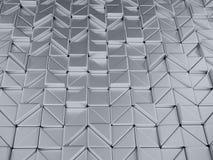 3d illustrtion abstract geometric metalli background Stock Photography