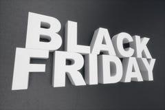 3D ilustração Black Friday, mensagem da venda para a loja Bandeira de compra da loja do negócio para Black Friday texto 3d no pre ilustração do vetor