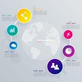 3D ilustração digital abstrata Infographic Foto de Stock Royalty Free
