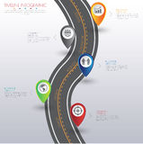 3D ilustração digital abstrata Infographic com mapa do mundo lata Fotografia de Stock Royalty Free