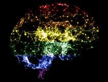 3D ilustração - ilustração do cérebro à cor de LGBT Imagem de Stock