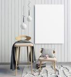 3d ilustração, interior moderno Imagens de Stock Royalty Free