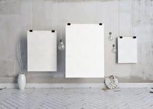 3d ilustração, moderno interior Imagens de Stock Royalty Free