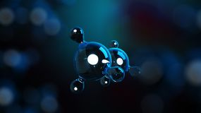 3D ilustraci molekuły Atomu bacgkround mapy tła oko medical optometrist Cząsteczkowa struktura przy atomowym poziomem royalty ilustracja