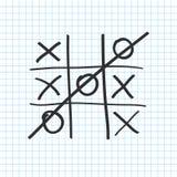 3d ilustraci tac tic palec u nogi Noughts i krzyż gry planszowa ikona wektor Obraz Royalty Free