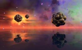 3D ilustracja atom Fotografia Royalty Free