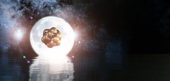 3D ilustracja atom Zdjęcia Royalty Free