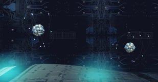 3D ilustracja atom Zdjęcie Stock