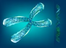 3d ilustracja chromosomy geneva ilustracja wektor