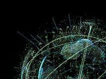 3d ilustracja cyfrowa wirtualna planety ziemia Zdjęcie Royalty Free