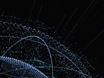 3d ilustracja cyfrowa wirtualna planety ziemia Zdjęcie Stock