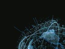 3d ilustracja cyfrowa wirtualna planety ziemia Zdjęcia Stock