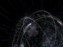 3d ilustracja cyfrowa wirtualna planety ziemia Obrazy Royalty Free