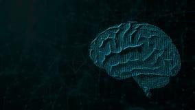 3d ilustracja cyfrowy mózg na futurystycznym tle, pojęcie sztuczna inteligencja i możliwości umysł, ilustracji