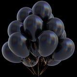 3D ilustracja czarny hel szybko się zwiększać przyjęcie urodzinowe dekorację Obraz Stock