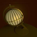 3d ilustracja, 3d rendering Rocznik latarniowa stołowa lampa, robić w postaci antycznej kuli ziemskiej Obrazy Stock
