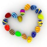 Wielkanocny serce Obrazy Stock