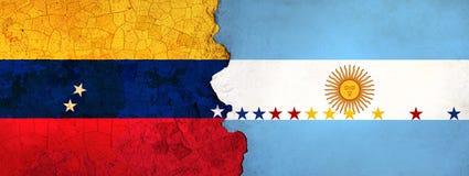 3D ilustracja dla Wenezuelskich wędrowników ucieka Argentyna jako ekonomiczny, polityczny kryzys/pogarsza się ilustracji