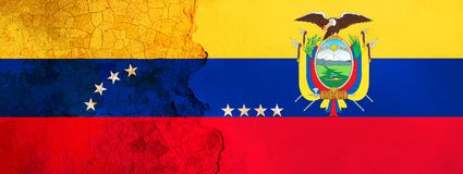 3D ilustracja dla Wenezuelskich wędrowników ucieka Ekwador przez ekonomicznego, politycznego kryzysu/ ilustracja wektor