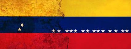 3D ilustracja dla Wenezuelskich wędrowników ucieka Kolumbia jako ekonomiczny, polityczny kryzys/pogarsza się ilustracji