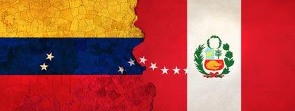 3D ilustracja dla Wenezuelskich wędrowników ucieka Peru jako ekonomiczny, polityczny kryzys/pogarsza się ilustracja wektor