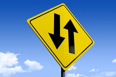 3D ilustracja drogowy znak _dual arrows_angle3 ilustracji