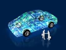 3D ilustracja ewolucja samochody ilustracji