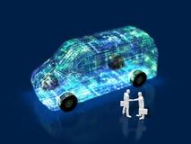 3D ilustracja ewolucja samochody royalty ilustracja