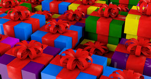 3D ilustracja - gift/teraźniejszy pojęcie Zdjęcie Stock