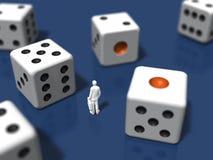 3d ilustracja kostka do gry Obrazy Stock