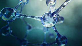 3d ilustracja molekuła model Nauki tło z molekułami Obraz Royalty Free