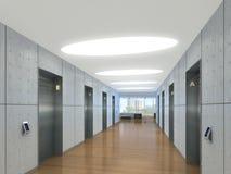 3d ilustracja nowożytny winda lobby Zdjęcia Stock