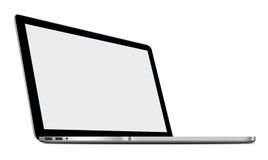 3D ilustracja odizolowywająca na bielu Srebny laptop Obraz Royalty Free