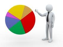 3d biznesmen przedstawia pasztetową mapę Zdjęcie Stock