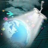 3d ilustracja ringowa kolorowa biznesowa mapa Zdjęcia Stock