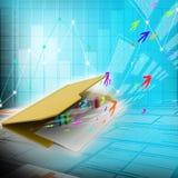 3d ilustracja ringowa kolorowa biznesowa mapa Fotografia Stock