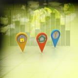 3d ilustracja ringowa kolorowa biznesowa mapa Obrazy Stock