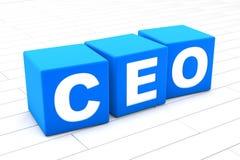 3D ilustracja słowo CEO royalty ilustracja