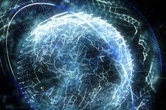 3d ilustracja szczegółowa wirtualna planety ziemia ilustracja wektor