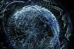 3d ilustracja szczegółowa wirtualna planety ziemia royalty ilustracja
