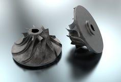 3D ilustracja Turbo impeller Fotografia Stock