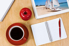 3 d ilustracji podobieństwo biura miejsca pracy Obrazy Royalty Free