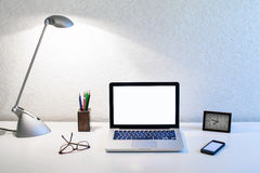 3 d ilustracji podobieństwo biura miejsca pracy Fotografia Stock