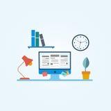 3 d ilustracji podobieństwo biura miejsca pracy Zdjęcie Stock
