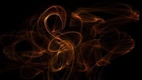 3D ilustracyjna emocja ruch w przestrzeni, energia, barwi i kształtuje ilustracja wektor